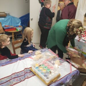 Cookie decorating and craft station at Christmas Bazaar